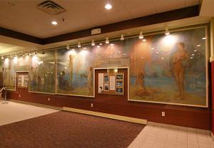 lobby mural, Aurora Theatre