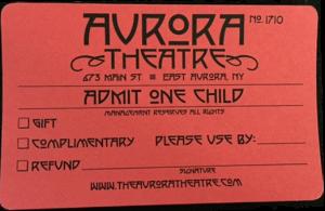 aurora theatre, admission ticket