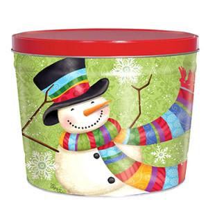 Scarf Snowman Tin