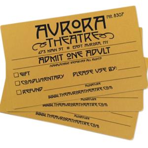 Aurora Theatre Movie Gift Passes, Adult Admission Price, East Aurora, NY