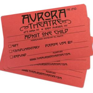 Aurora Theatre Gift Passes, Children's Admission, Free Movies, East Aurora NY